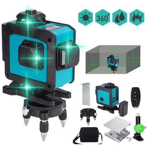 Fasget Niveau Laser 4D 16 lignes 360 ° auto nivellement avec trépied rotative + telecommande + Boite