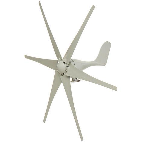 Kit d'aérogénérateur de générateur d'éolienne à 6 lames 12 / 48V 1000W