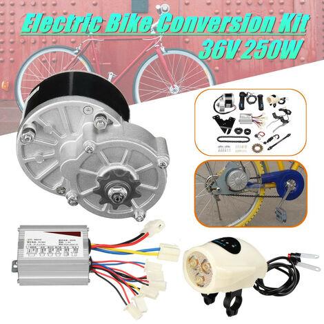 """36V 250W controleur de moteur de moto vélo électrique conversion de vélo électrique poignée de volant moteur support de chaine de commande de vitesse kit de commutateur pour 22-28 """"vélo ordinaire"""