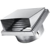 Capot de Cheminée Chapeau Grille Couverture Vent Ventilation Dia.125mm raccord de tuyau