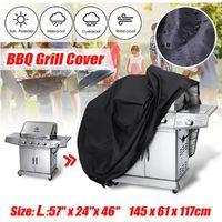 Bache Housse Barbecue BBQ Protection Poussière Salissure Pluie Noir Jardin Patio 145x61x117cm