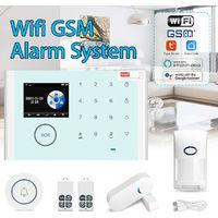 Kit de système d'alarme GSM WiFi de sécurité à domicile sans fil Kit App Télécommande
