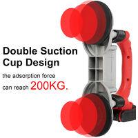 10000mAh 1200W Carrelage Machine Outil de pose de sol électrique pour vibrateur de carreaux 60-120CM (avec 2 piles)