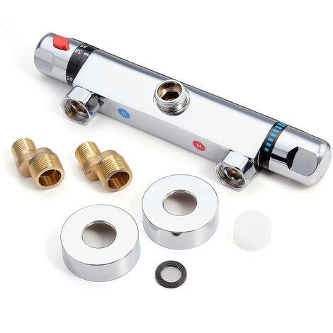 Mezclador termostático de válvula de pared para grifo de ducha Hasaki