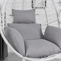 Cojín de silla Funda de silla Hamaca Columpio Cojín de asiento Nido grueso Respaldo de silla colgante con almohada gris