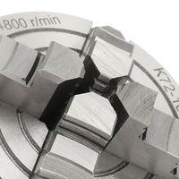 Herramienta CNC de acero endurecido reversible con mandril de torno autocentrante de 4 mordazas de 100 mm