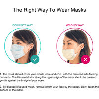 Máscara desechable de 50 piezas, 3 capas, máscara antipolvo, respiradores protectores