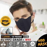 5pcs N99 FFP3 99% Mascarilla con filtro Respirador Mascarilla reutilizable