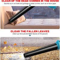 (Batería no incluida) 3 piezas eléctrico de mano inalámbrico soplador de aire aspiradora colector de polvo hoja limpieza del hogar soplado