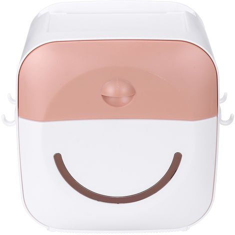 Tissue Holder Wall Shelf Paper Tube Pink Storage Box Hasaki