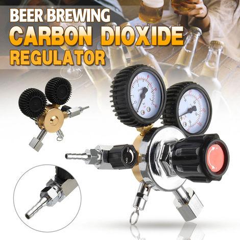 Co2 Regulator Beer Double Gauge Carbon Dioxide Soda Bar Draft Home Brew Gas Draft Hasaki
