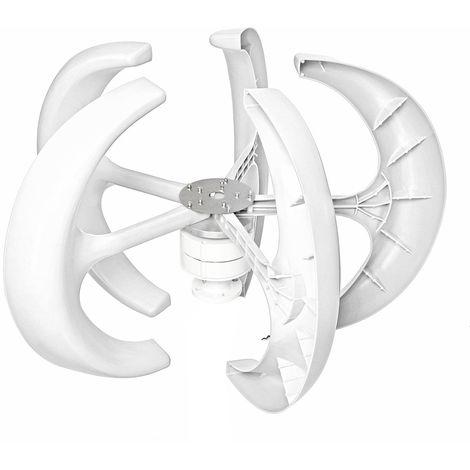 12V 5 Blade Permanent Magnet Turbine Generator Wind Edition Vertical Wind Turbine + Hasaki Controller