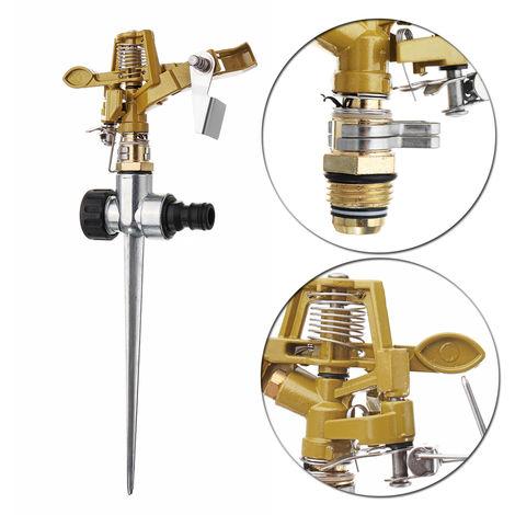 Nozzle 360 ??Degree Rotating Sprinkler Watering Garden Irrigation Lawn Zinc Alloy Hasaki