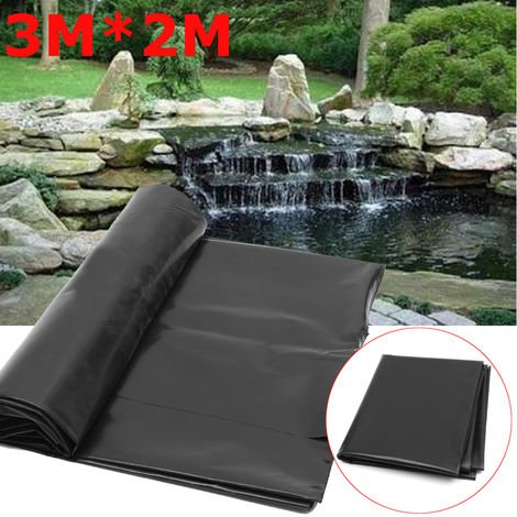 3X2M Black Fish Pond Liner Garden Swimming Pools Hdpe Reinforced Membrane Warranty Landscaping Hasaki