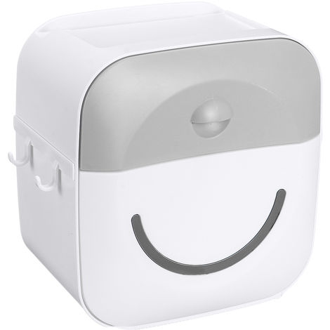 Tissue Holder Wall Shelf Paper Tube Storage Box Gray Hasaki