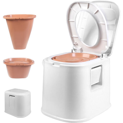 Portable Adult Mobile Simple Toilet Commode 49x42x43cm White