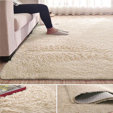 Shaggy Rug Super Plush Non-Slip Large Rugs Floor Carpet Living Room 230x160CM beige