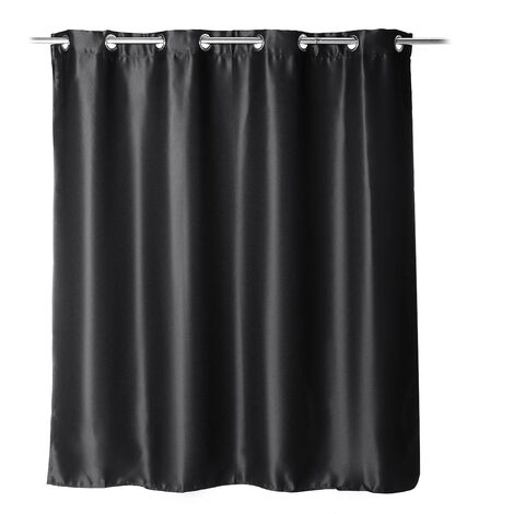 1PC Polyester Curtains Bedroom Blackout Red Draperies Black Grommet top 150x160cm