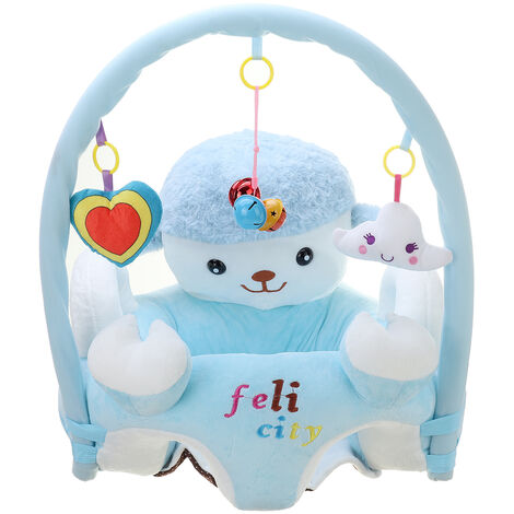 Kids Support Seat Plush Sofa Chair Sheep With Hanging Toys