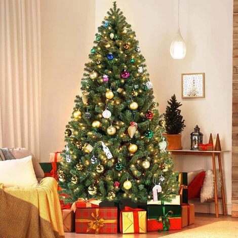 Pine Christmas Tree Luxury Artificial Tree Warm White LEDs Pre Lit 7.5FT 225CM