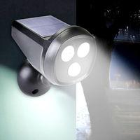 2 Led Motion Sensor Solar Garden Safety Lamp Hasaki