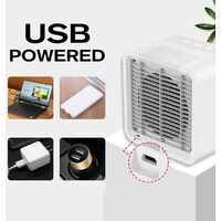 6.5 Inch Personal Mini Air Water Cooler Usb Power Humidifier Summer Purifier Portable Air Cooling Fan For Home Office Bedroom Hasaki
