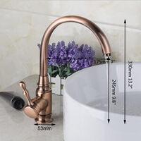 Swivel Mixer Tap in Antique Copper Brass Kitchen and Bathroom Mixer Tap Hasaki