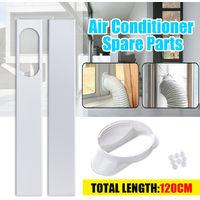 2Pcs Adjustable Window Slider Kit Plate For Air Conditioner Window Adapter Hasaki