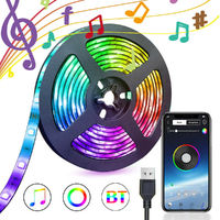 APP Controlled APP Controlled Bluetooth LED 5050 RGB 60 LED Strip Waterproof for Home Decoration Kitchen Wedding Party