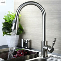 Modern Kitchen Sink Mixer Faucets Swivel Spout Basin Faucet Mono Faucet Chrome Hasaki
