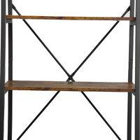 4-Tier Ladder Shelf Bookcase 129*35*64cm Storage Rack Stand Metal Frame