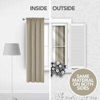 Curtain Window Bedroom Sun Block without Hook Grommet top 150x160cm