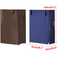 Bird Parrot Cage Cover Breathable 130X60X97cm Blue