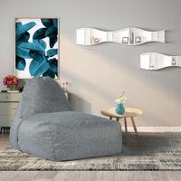 High Rebound Foam Indoor Home Lounger Seat Sofa Couch Grey 105X77X73cm