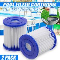 2pcs For Bestway 58093 Replacement Filter Cartridge Swimming Pool Pump