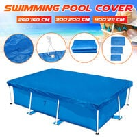 Rectangle Swimming Pool Cover 300*200cm blue