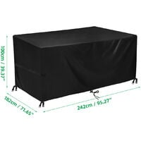 Waterproof Outdoor Patio Garden Furniture Covers Rain Snow Chair covers for Sofa Table Chair Dust Proof Cover