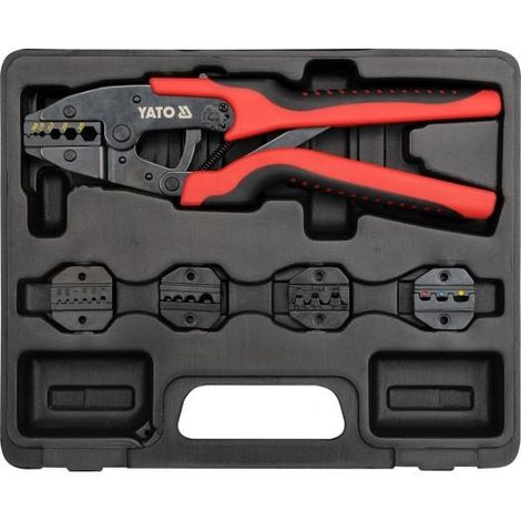 Yato professional electricians ratchet crimping tool set quick release