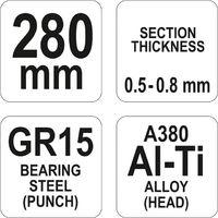 Yato professional drywall profile pliers 280mm long, profile stud tool (YT-51311