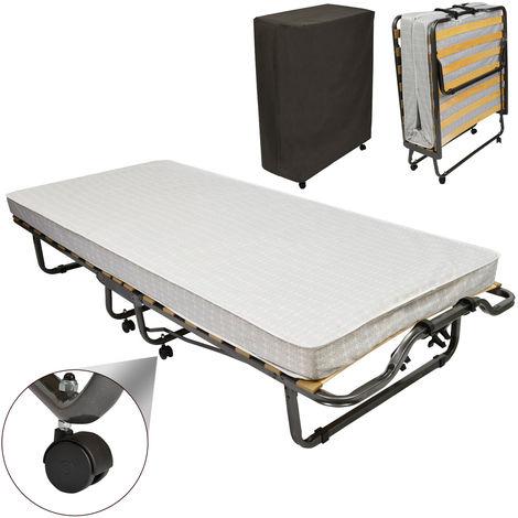 Cama de invitados Veraflex / Cama plegable con colchón y envoltura 200x90x40 cm
