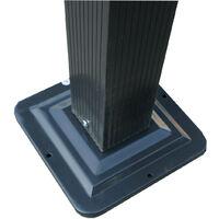 Tonnelle/Pergola en aluminium 3x4m toile coulissante rétractable - Gris - HAVANA - Gris