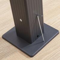 Tonnelle/Pergola aluminium 3x4m toile coulissante rétractable - Gris Ecru - Hero XL - Gris