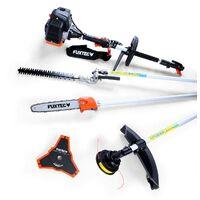 Petrol 4 in 1 Multitool - high level pruner, long-range hedge trimmer, brush cutter, thread head FUXTEC MT152