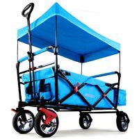 FUXTEC Folding Wagon / Foldable Wagon / Trolley / Hand Cart CT-500 TURQUOISE/BLUE