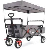 FUXTEC Folding Wagon / Foldable Wagon / Trolley / Hand Cart CT-500 GREY
