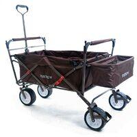 FUXTEC Folding Wagon / Foldable Wagon / Trolley / Hand Cart JW-76C BROWN