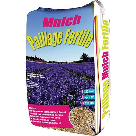 PAILLAGE MULCH FERTILE - Paillis de miscanthus - 125 litres