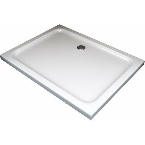 Plato de ducha rectangular rebajado de abs con valvula incluida H.5 cm - 70 x 90 cm