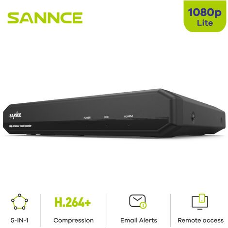 SANNCE 8CH 1080N 720P CVBS/AHD/TVI/IP 4 In 1 DVR - No Hard Drive Disk