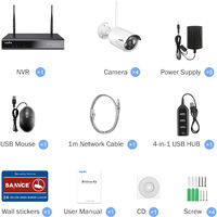SANNCE 3MP Wireless Security Camera System - with 0TB harddisk